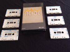 AC/DC BOX SET CASSETTE TAPE X 6 TC- AC DC 1 EARLY AUSTRALIA ALBERT PRODUCTIONS