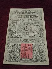 Led Zeppelin 1969 Fillmore East Program First NYC Headline Show W/Ticket Stub!