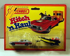 DTE 1982 CARD LESNEY MATCHBOX SUPERFAST TWIN PACK HITCH N HAUL DATSUN/SPEEDBOAT
