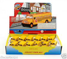 "Box of 12: Die-cast Mini School bus with Keychain (2½"" long)"