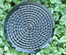 """rope stepping stone abs plastic mold  / mould lots of detail too! 14"""" X 2"""""""