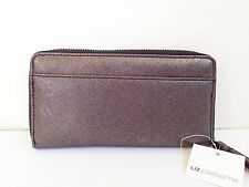 BNWT Authentic LIZ CLAIBORNE Zip Around Clutch Wallet Wristlet Black Metallic