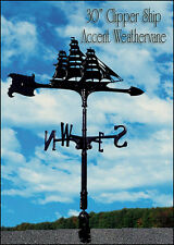 "Whitehall 30"" Clipper Ship Accent Weathervane QUICK & FREE Ship with Mount"