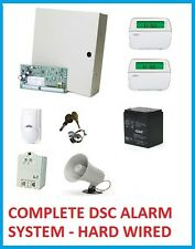 COMPLETE DSC ALARM SYSTEM PC1832 RFK5501  PK5501 LC-100PI SIREN BATTERY  POWER