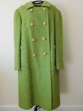 Vintage Ladies 1960s Lime Green Wool Blend Pioneer Coat Co Long Dress Coat M