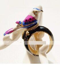 R30 Betsey Johnson Exquisite Singing Messenger Pigeon Bird Swallow Ring UK