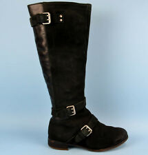 UGG Australia Cydnee High Knee Black Leather Womens Boots Size 4.5 UK 37 EU