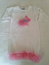 Mud Pie Easter Bunny Baby Girl Gown; 0-6 Mo