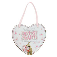 Boofle Bestest Mum Wooden Heart Shaped Plaque Lovely Mother's Day Gift