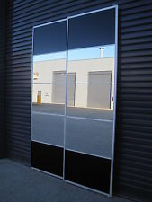 Built in, DIY Wardrobe Sliding Doors *Made to Measure* Mirror and Black glass