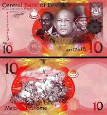 LESOTHO 10 MALOTI UNC BEAUTIFUL NOTE # 899
