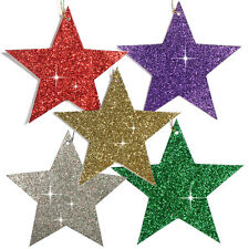 150 Glittered Christmas Star Gift Tags or Tree Decoration in Six Colours
