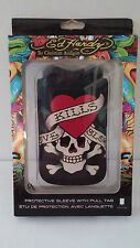 "SEALED-Ed Hardy Skeleton Heart ""LOVE KILLS SLOW"" Hard Case for Apple iPhone 4"