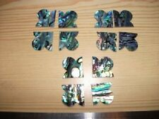 12 Paua  Shell Fancy Corner Pieces - Inlay- Restoration