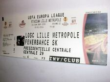 used ticket LOSC LILLE - FENERBAHCE SK 18.02.2010