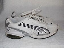 Puma WHITE Gray Black Tennis Shoes For Men 10W Used