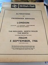 British Rail alterations passenger services London - Midlands/North/Wales 1966