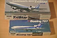 2stk.Flugzeug, Modellbausatz, M1:100, DOYUSHA,Lockheed L-1011 Tristar,Boeing 727
