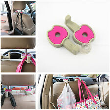 2 x Auto Back Seat Headrest Stand Pink Apple Hooks For Shopping Bags Handle Bags