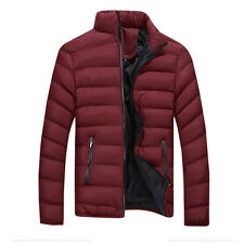 Black Men's Winter Warm Slim Fit Thick Bubble Coat Casual Jacket Parka Outerwear