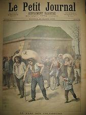 COLTINEURS PARI COURSE DE SACS DE PARIS A CORBEIL CYCLISTE LE PETIT JOURNAL 1893