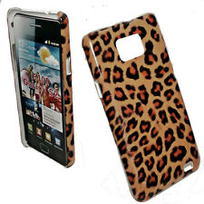 DESIGN  HARD BACK COVER CASE  LEOPARD No.3  SAMSUNG i9100 + Displayschutzfolie
