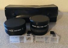 Cherry Aux Telephoto Focus Distance And Sakar Aux Wide Angle Lenses With Extras