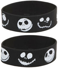 NEW Nightmare Before Christmas JACK FACES Rubber Bracelet Simply Black/White