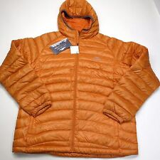 L.L. Bean Men's Superlight Down Sweater Hoodie 800 Fill Orange US Large NEW