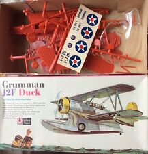 VINTAGE RINGO TOY CORP 1/48th Scale Grumman J2F Duck Seaplane Plastic Model Kit