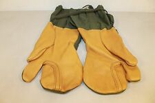 USGI MILITARY SURPLUS OD M1965 TRIGGER FINGER MITTEN SHELLS GLOVES LARGE L