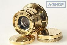 SONNAR Carl Zeiss Jena Gold 2.8/ 52mm M39 Lens for Leica ( replica )