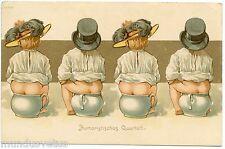 Enfants, bébés, pot de chambre . Chapeau . Children, babies