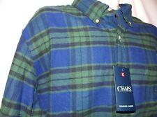 mens chaps ralph lauren brushed flannel button shirt M nwt $55 green blue