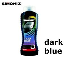 DARK BLUE - Polish Wax Simoniz Hides Swirl Marks Scratch Remover 500ml Car Van