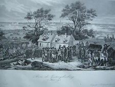 Prise de Geertruidenberg 1793 Niederlande Brabant  Stahlstich 1837