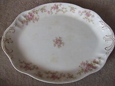"""Etruria Mellor & Co. China Oval Serving Plate Floral 15"""" (Pre~Owned)"""