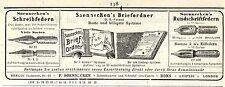 Soennecken Bonn SCHREIBWAREN & SCHREIBFEDERN Kolonialwerbung von 1908