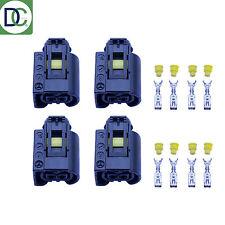 4 x Mercedes Clase C Genuine Inyector Diesel Conector Enchufe Bosch Common-Rail