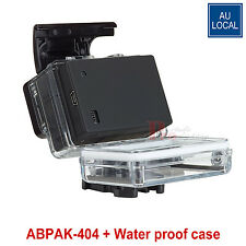 Extended Backdoor Battery Pack +Waterproof Touch Cover Case For GoPro Hero 3+4