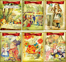 Alice in Wonderland seed packet cover table decoration scrapbooking party favor