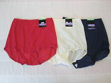 Bali Skimp Skamp Lot of 3 Briefs Panties 2633 Full Coverage Nylon Sz 8/XL NWT MM
