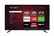 """Television Flat Screen TCL 40"""" LED 1080p Smart HDTV with Roku Streaming Video"""