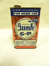 Empty Vintage Gunk G-P Parts Cleaner Degreaser Tin Metal Can (A4)