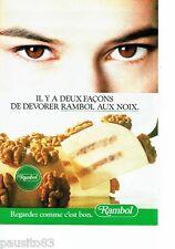 PUBLICITE ADVERTISING 116  1988   Rambol   le fromage aux noix