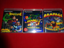 Empty Cases! Rampage Through Time Universal World Tour - PS1 PS2 PS3 Playstation