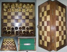 """8"""" INCH INDIAN HANDMADE TOP QUALITY PORTABLE WOODEN CHESS SET 32 PCS -GIFT ITEM"""