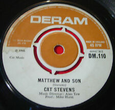 "Cat Stevens Matthew And Son 7"" UK ORIG 1967 Deram DM.110 b/w Granny VINYL"