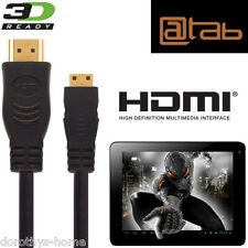 @TAB sette, 9.7, 10.1, 13,3 Android Tablet PC mini HDMI TV 2,5 m Oro Cavo Di Piombo