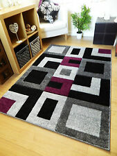 Grey, Brown, Red Modern Style Soft Thick Runner Rug Small Extra Large Mat Cheap